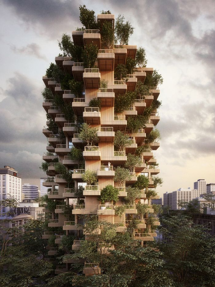 Проект жилого комплекса Tree Tower, архитектурная студия Penda