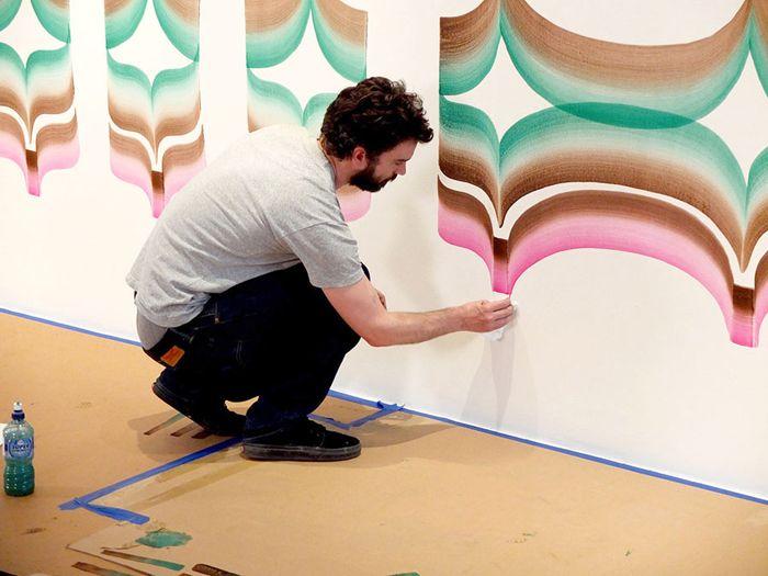 Настенная роспись в Центре искусств Walker Art Center, дизайнер Йоб Ваутерс (Job Wouters)