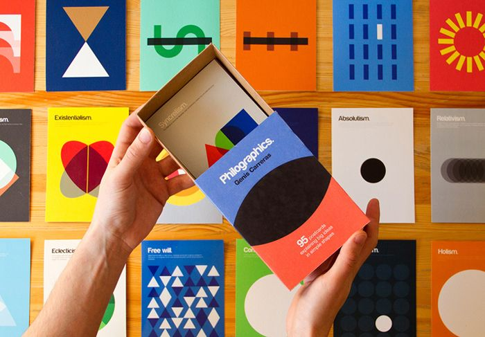 Серия графических плакатов Philosphy Posters, дизайнер Дженис Каррерас (Genis Carreras)