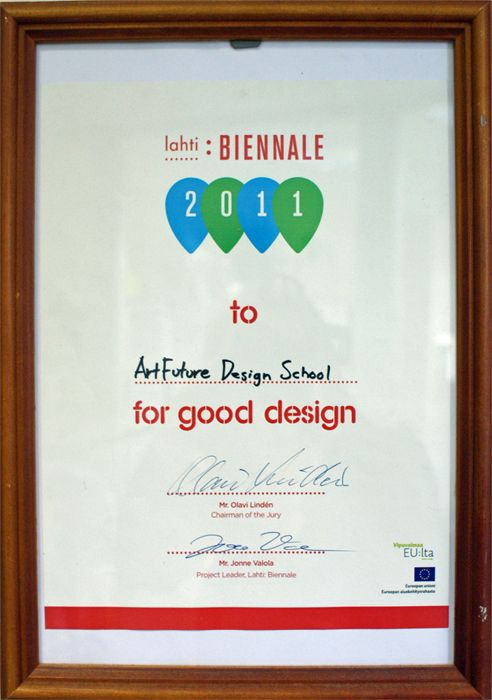 Диплом с выставки «Lahti: BIENNALE 2011»